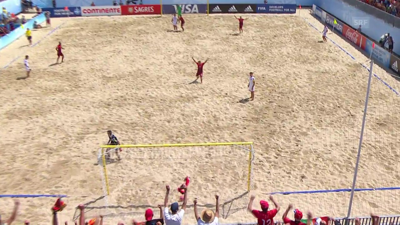 Beachsoccer: WM in Portugal, Viertelfinal, Schweiz - Portugal