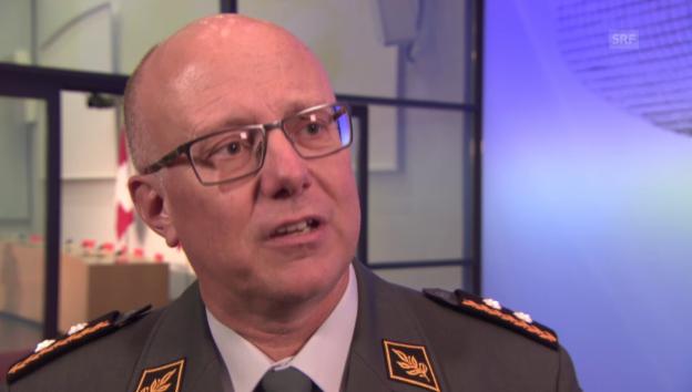 Video «Armeechef Rebord: «Die Armee ist kein Ferienlager»» abspielen
