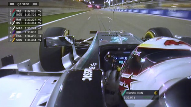 Video «Formel 1: Qualifying zum GP von Bahrain, Schlussphase» abspielen