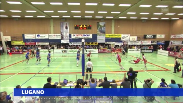 Video «Volleyball: Playoff-Final Amriswil - Lugano» abspielen