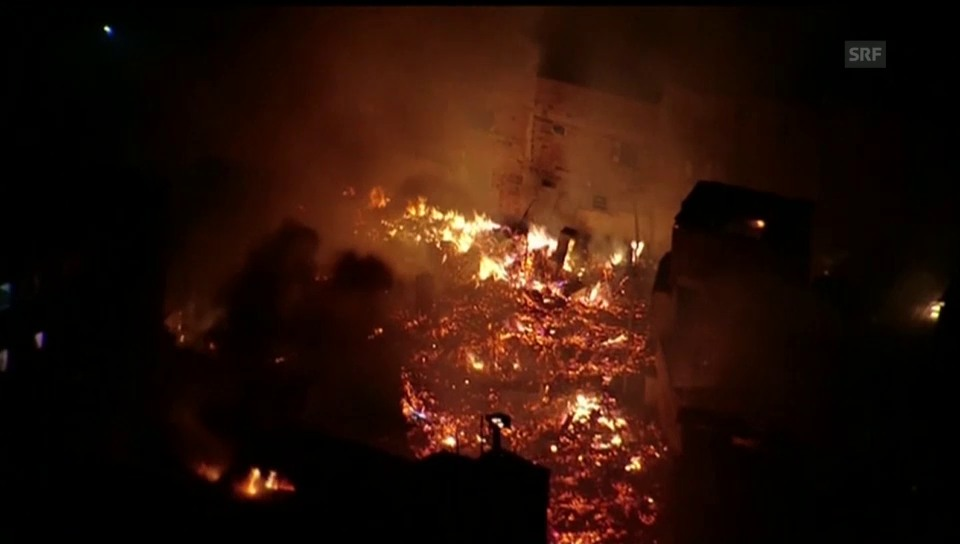 Grossbrand in Paraisópolis
