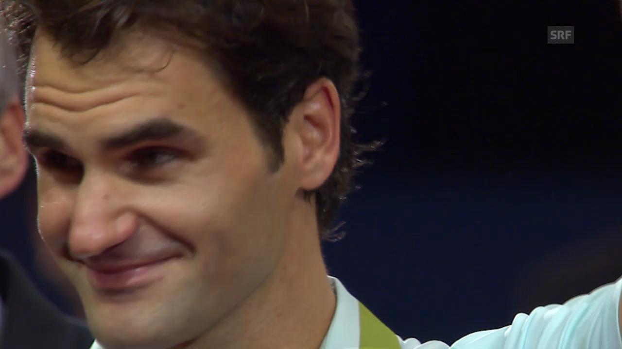 Federer bei Finalisten-Ehrung zu Tränen gerührt