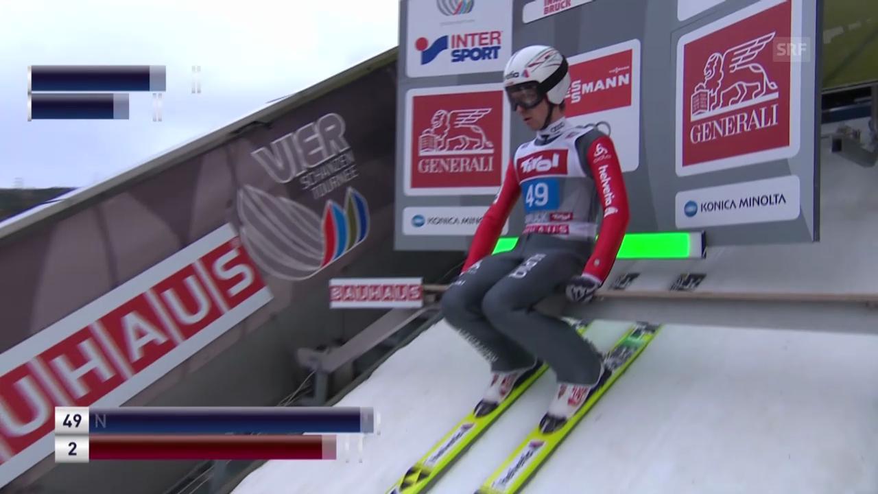 Skispringen: 1. Sprung Simon Ammann