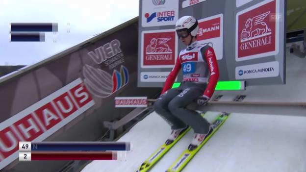 Video «Skispringen: 1. Sprung Simon Ammann» abspielen