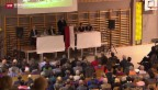 Video «Hitziger Protest gegen geplantes Asylzentrum» abspielen