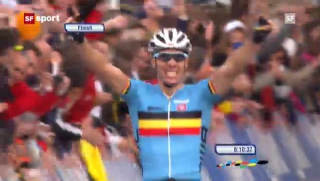 Video «Gilbert ist Strassen-Weltmeister («sportpanorama»)» abspielen