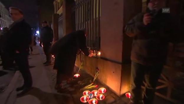 Video «Kopenhagen gedenkt der beiden Terroropfer» abspielen