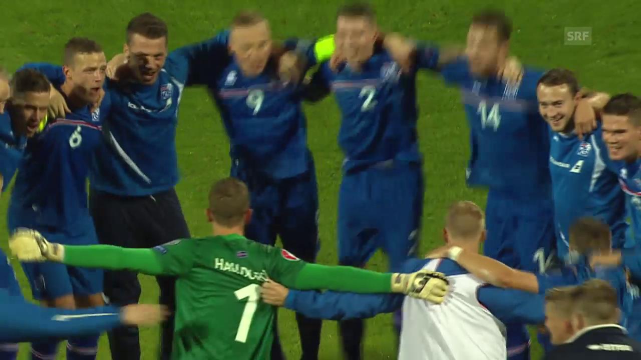 EURO-Quali: Jubel bei Island nach der Qualifikation
