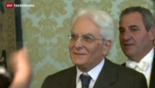 Video «Sergio Mattarella ist Italiens neuer Staatspräsident» abspielen