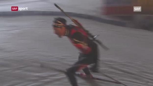Video «Biathlon: Weltcup-Sprint in Oberhof» abspielen