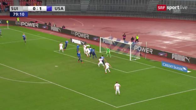 Video «Fussball: Testspiel Schweiz-USA, die Live-Highlights» abspielen