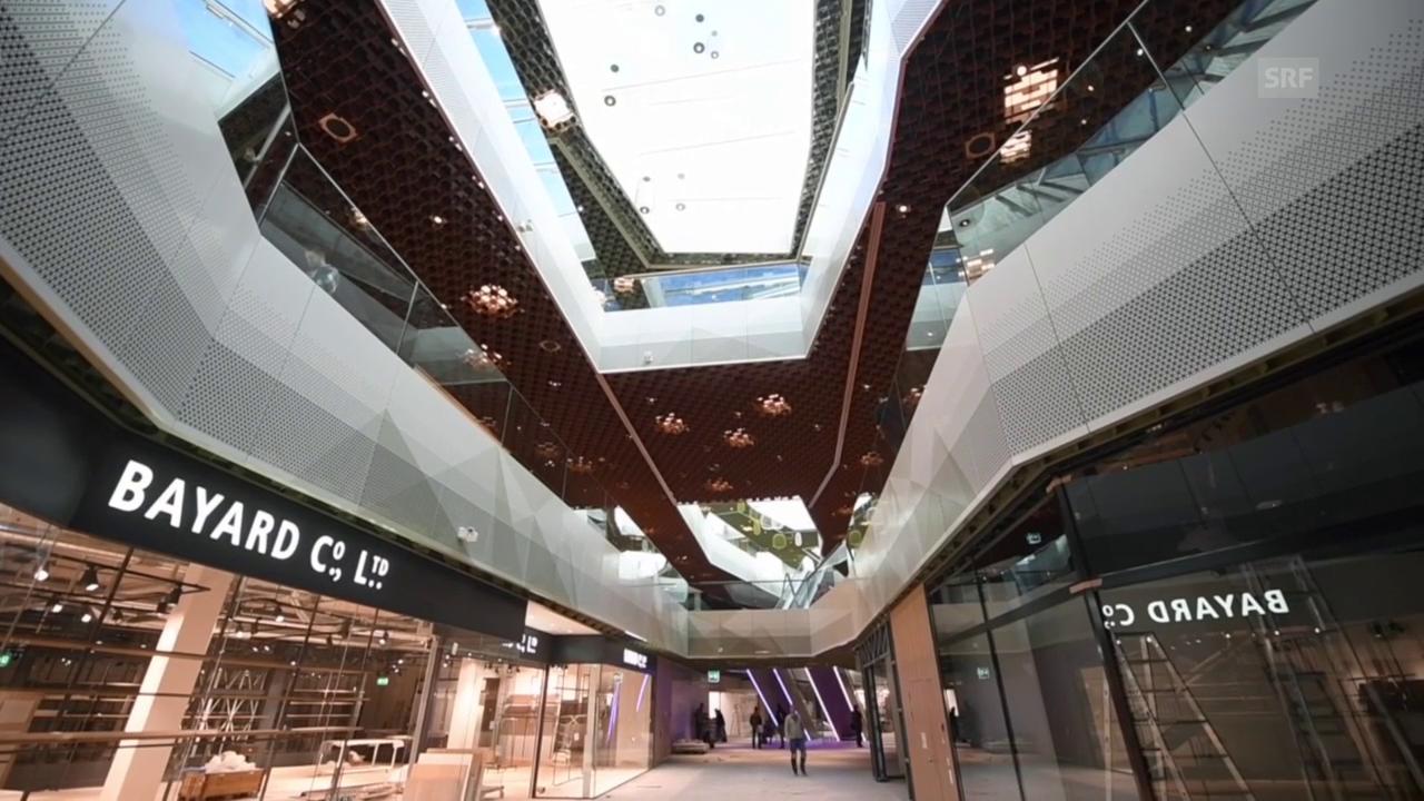 Einblicke in das neue Shopping-Center Mall of Switzerland