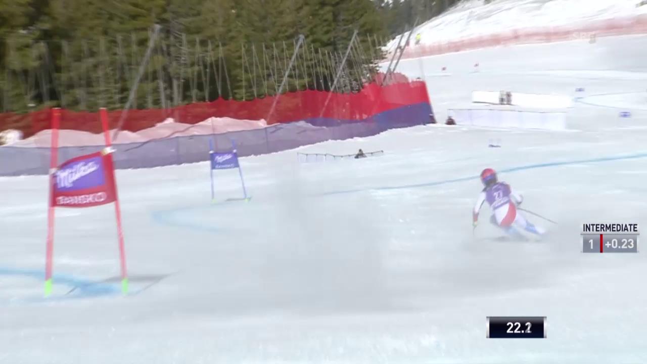 Ski alpin: Super-G der Frauen in Bansko, Fahrt von Dominique Gisin