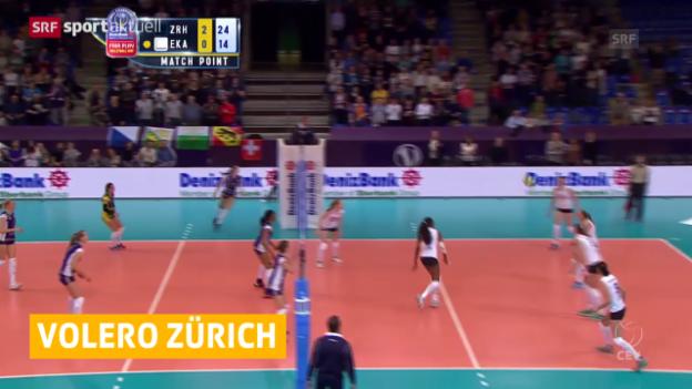 Video «Volleyball: Volero mit Startsieg («sportaktuell»)» abspielen