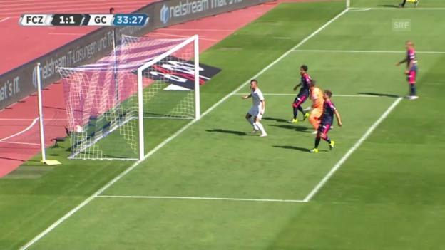 Video «Fussball, Super League, 3. Runde, FCZ-GC, 1:1 Simonyan» abspielen