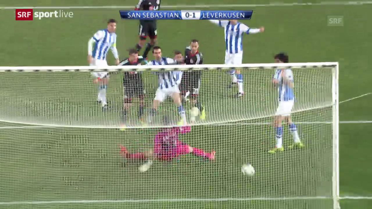 Fussball: CL, San Sebastian - Leverkusen («sportlive», 10.12.2013)