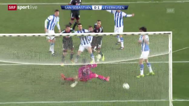 Video «Fussball: CL, San Sebastian - Leverkusen («sportlive», 10.12.2013)» abspielen
