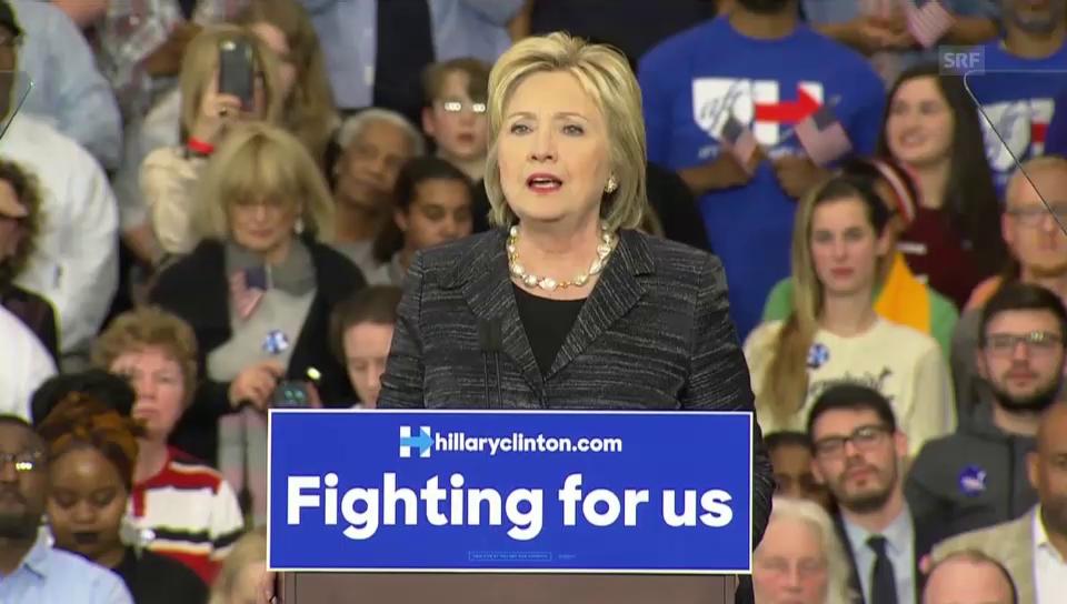 Clinton: «Sanders und ich haben unsere Differenzen» (Englisch)