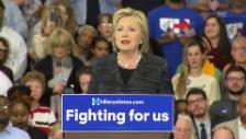 Video «Clinton: «Sanders und ich haben unsere Differenzen» (Englisch)» abspielen
