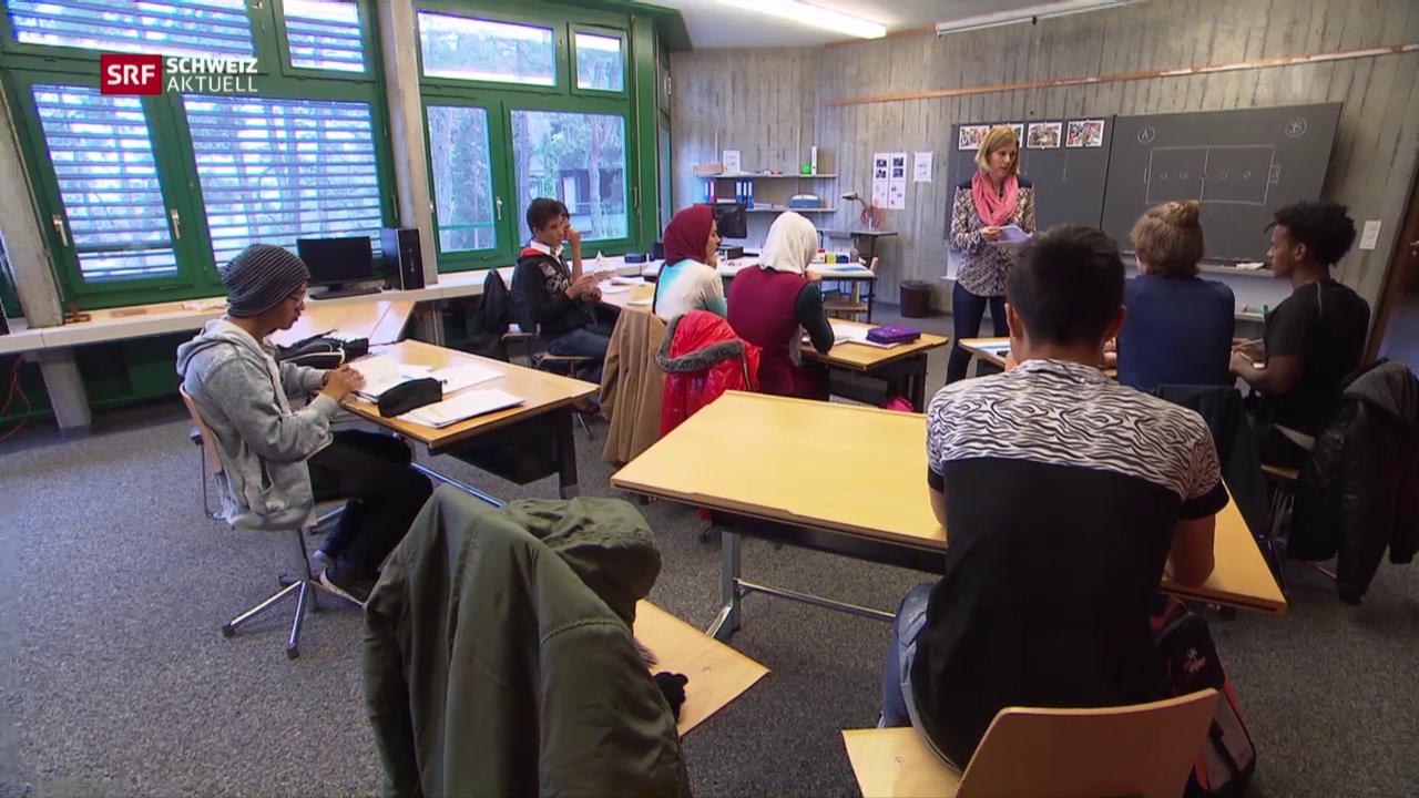 Schulhaus für Asylsuchende