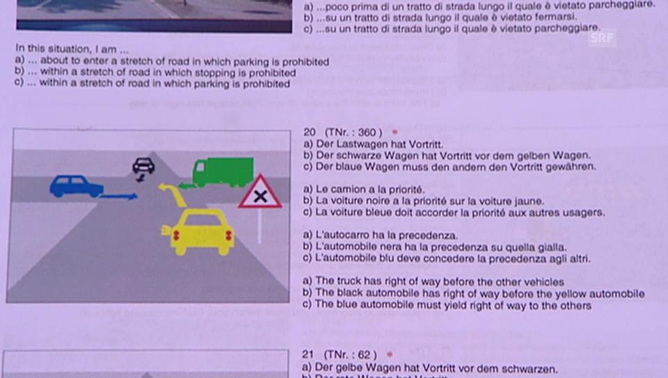 Promis in der «g&g»-Verkehrskunde: Frage 2
