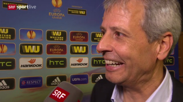 Video «Fussball: Europa League, Interview mit Lucien Favre» abspielen
