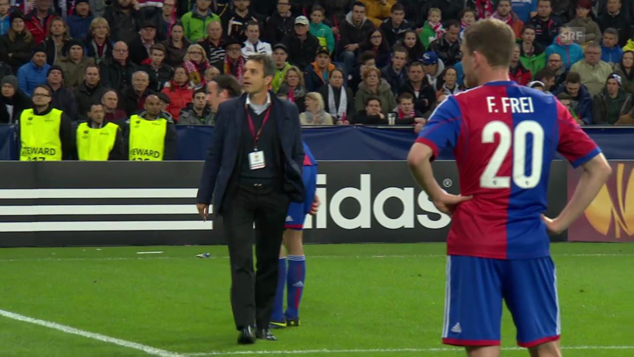 Fussball: Europa League, Basel-Anhänger provozieren Spielabbruch