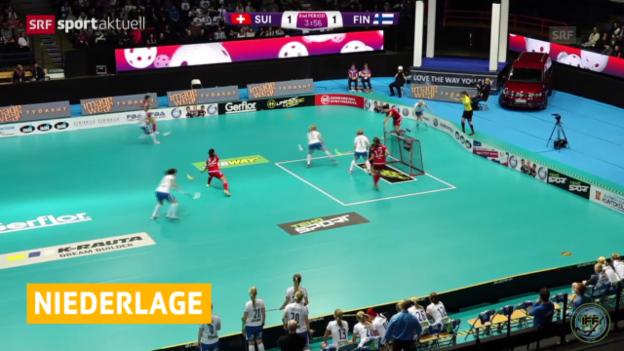Video «Unihockey: WM Frauen, Schweiz - Finnland» abspielen