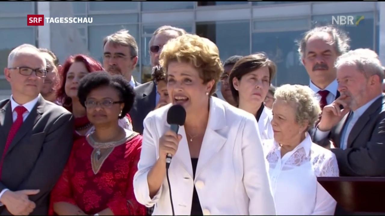 Dilma Rousseff suspendiert