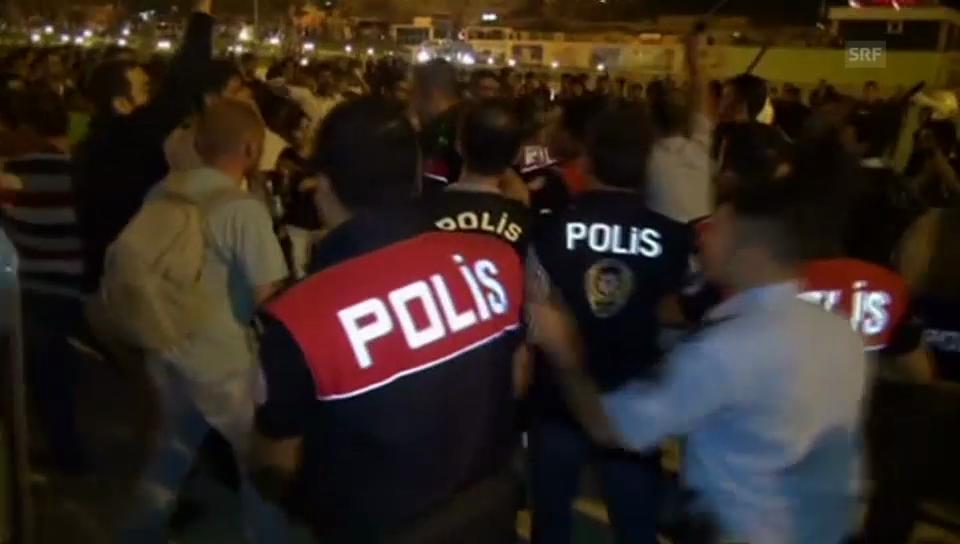 Gewaltsame Proteste in der türkischen Stadt Diyarbakir.