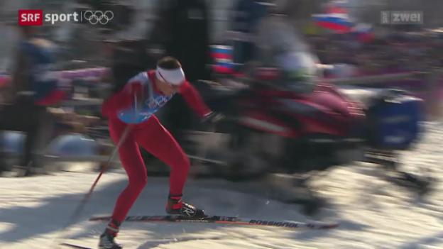 Video «Langlauf: Überzeugender Auftritt der Schweizer Staffel» abspielen