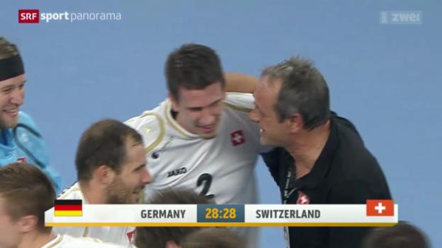 Video «Handball: Testspiel, Deutschland - Schweiz» abspielen