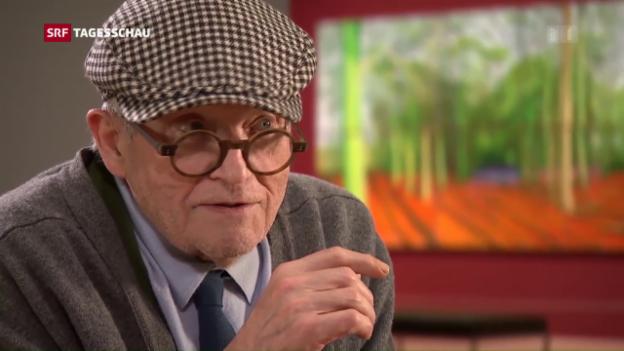 Video «London würdigt David Hockney» abspielen
