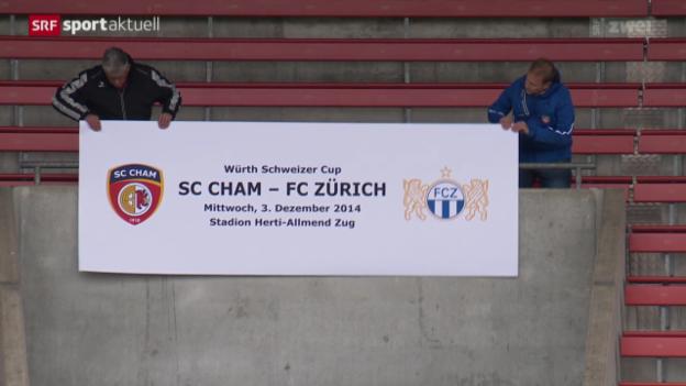 Video «Fussball: Cham vor dem Cup-Achtelfinal-Duell gegen den FC Zürich» abspielen