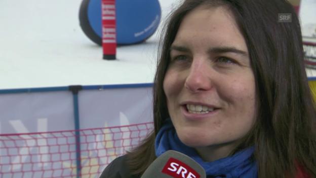 Video «Snowboard: Freestyle-WM; Sina Candrian im Interview» abspielen
