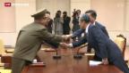 Video «Koreanischer Lautsprecherstreit beigelegt» abspielen
