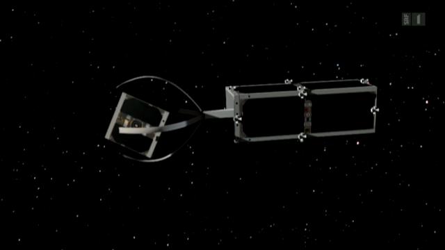 Schweizer räumen den Weltraum auf