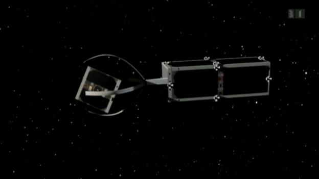 Video «Schweizer räumen den Weltraum auf» abspielen
