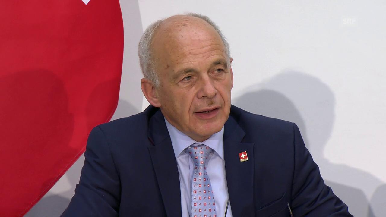 Bundesrat Ueli Maurer zum Ausgang der Vollgeld-Initiative