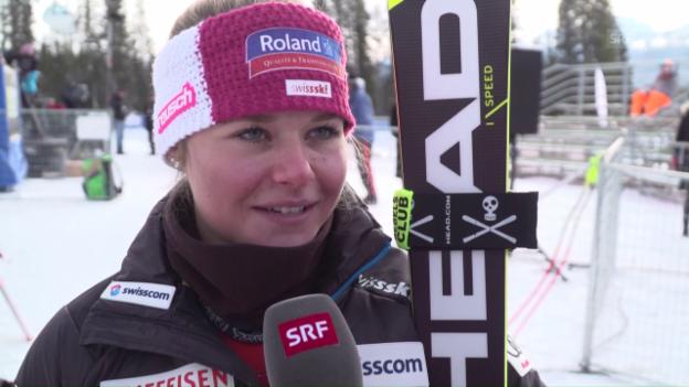 Video «Corinne Suter: «War froh über das 3. Training»» abspielen