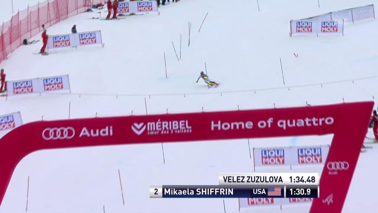 Ski: Slalom Frauen, Méribel, 2. Lauf Mikaela Shiffrin