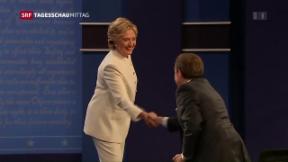 Video «TV-Schlacht zwischen Clinton und Trump» abspielen
