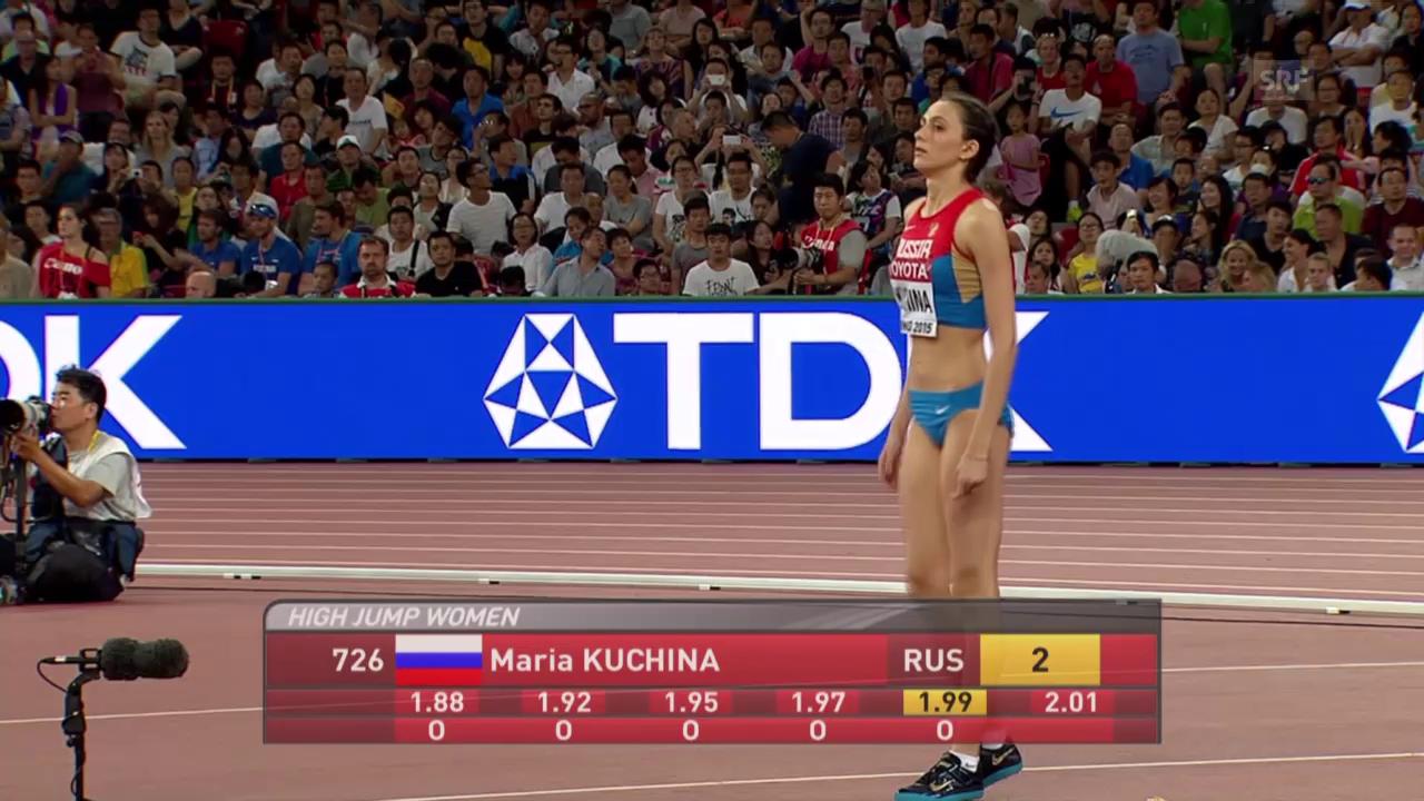 Leichtathetik WM: Hochsprung, Kuchina, 2,01 m