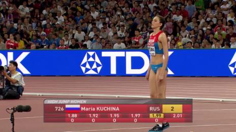 Video «Leichtathetik WM: Hochsprung, Kuchina, 2,01 m» abspielen