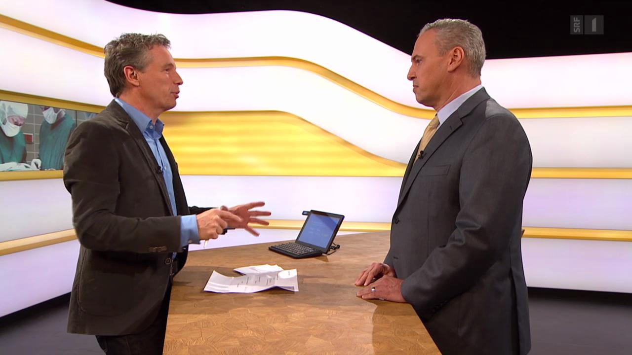 Studiogespräch mit Versicherungsspezialist Stefan Thurnherr