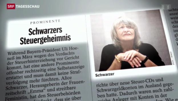 Video «Alice Schwarzer hatte Konto in der Schweiz» abspielen