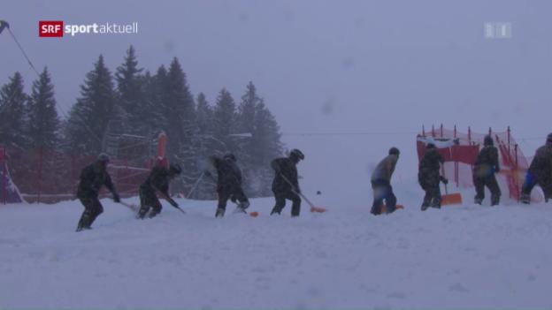 Video «Abfahrt abgesagt – kein Wetterglück am Lauberhorn» abspielen