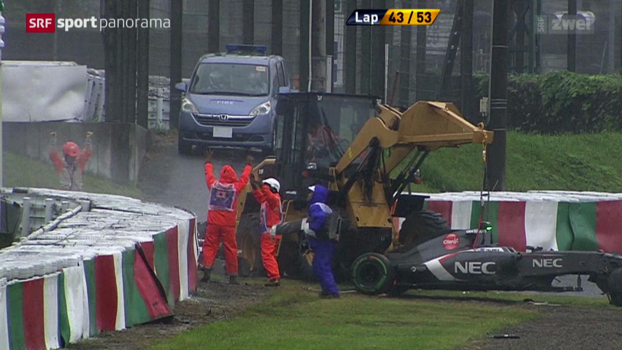 Formel 1: Jules Bianchi schwer verletzt