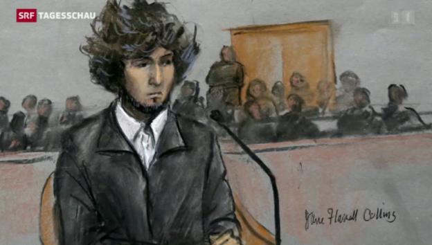 Video «Prozess gegen «Boston-Bomber» hat begonnen» abspielen