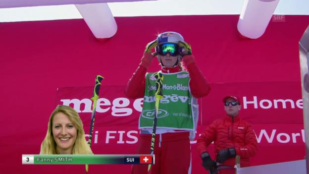 Video «Skicross: Weltcup Megève, Halbfinal Fanny Smith» abspielen